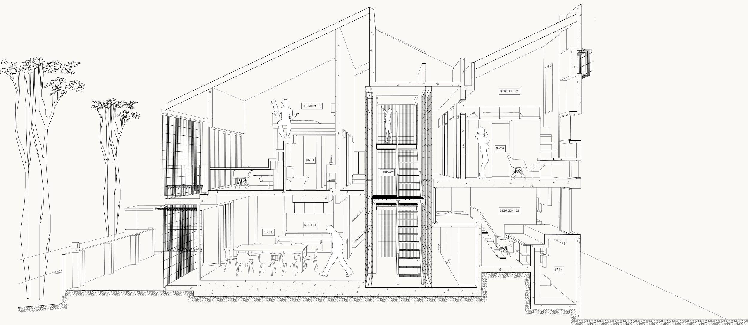 L45 Student Hostel + Library, Image © Tetawowe Atelier - art4d